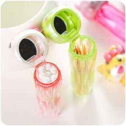 Wholesale Cute Toothpick Holders - Wholesale- Cute animal Toothpick Container Kawaii Hello Kitty Mini Portable Toothpick Holder Cotton Case Box Storage Kitchen Accessories