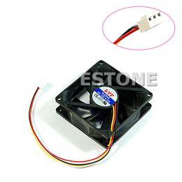 2019 kühlkörper für pc Großhandels-CPU PC Fan Cooler Kühlkörper Auspuff 3 Pin 80mm x 25mm günstig kühlkörper für pc