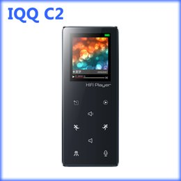 Wholesale Micro Tf Card 32 - Wholesale- IQQ C2 bluetooth mp3 player sport with lossless recorder hifi mp3 music player radio fm Support Micro TF Card Slot 16 32 64GB