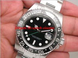 Wholesale Mens S Bracelet - Luxury Watches Top Quality Steel Bracelet NEW MENS S S II NEW CERAMIC BEZEL 116710 40mm Automatic Mechanical Fashion Men's Wristwatch