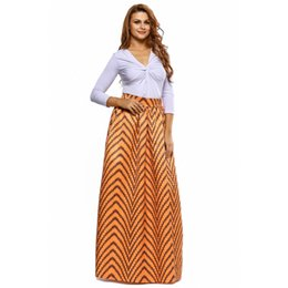 Wholesale Retro Print Skirt - 2017 women summer chifon long skirts womens Retro Style African Print Maxi Skirt ladies plus size
