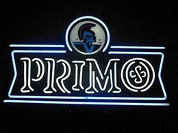"""Wholesale plastic advertising signs - Primo Beer Neon Sign Pub Store KTV Bar Display Neon Signs Real Glass Tube Custom Handmade Advertised With Printed Plastic Board 17""""X10"""""""