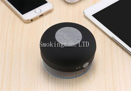 Wholesale Note Speakers - DHL Portable Shower Waterproof Bluetooth Speaker Mini Wireless Bluetooth Handsfree Speakers for iPad iphone 6 plus 5s Samsung note