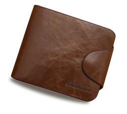 Wholesale horse coin purse - Crazy Horse Leather Wallets Men Vintage Brown Solid Short Design Zipper Hasp Men Purse crazy horse quality Men's Wallet