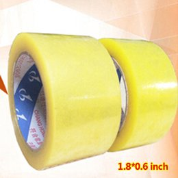 Wholesale Adhesive Ribbon Tape - Wholesale- 2016 2 rolls 1.8*0.6 inch Packing Tape Adhesive Tape Film Paper Adhesive Strapping Gift Ribbon Office Adhesive Tape Material Es