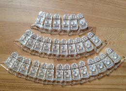 Wholesale Wholesale Mam Pacifier - Wholesale-New Design 30Pcs Set Clear Mam Baby Dummy Clips Plastic Pacifier Transparent Size 28mm MH103