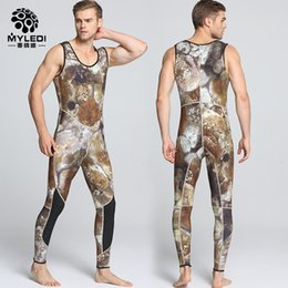 Wholesale Diving Suits 5mm - MYLEDI 3mm 5mm SCR Men Neoprene 2pcs set Camouflage Wetsuits Scuba Dive Spearfishing Wet Suit Surfing Diving Equipment Split Suits