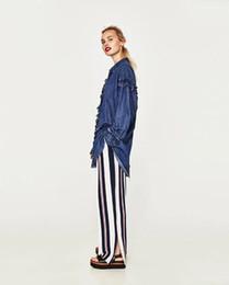 Wholesale High Waist Big Leg Pants - Summer New Women's colthing Pants Loose Trousers Chiffon Pants Big yards Nine pant Wide Leg Pants Fashion