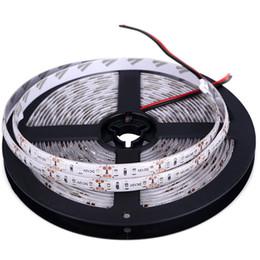 2019 luces de neón blancas rollo 5M 600leds 2835 SMD LED Strip Cinta impermeable IP65 DC 12V Alto brillo LED 120 leds / m Super brillante que 3528 LED Tape