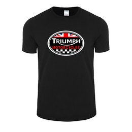 Wholesale Great White Short - Wholesale- Fashion Style Summer GREAT BRITAIN TRIUMPH MOTORCYCLE Short Sleeve T-shirt Men Cotton Casual O Neck T Shirt Plus Size