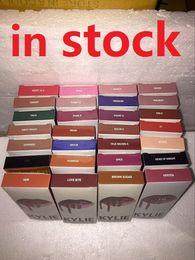 Wholesale Pencil Make Up - Latest KYLIE JENNER LIP KIT liner Kylie Lipliner pencil Velvetine Liquid Matte Lipstick in Red Velvet Makeup Lip Gloss Make Up 41 colors