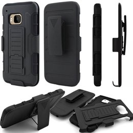 Wholesale M7 Cover - Future Armor Impact Hybrid Cases Cover For HTC Desire 626 510 530 630 M7 M9 Kickstand Hard Plastic Soft Silicone Clip Belt Shockproof Stand