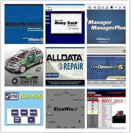 Wholesale Ford Dhl - 2017 Hot Auto Repair Alldata Software V10.53 + mitchell on demand 5 software 2015 usb hard disk all data DHL free shipping