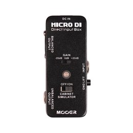Wholesale Mooer Micro Pedal - MOOER Micro DI DIRECT INPUT BOX ultra low distortion Guitar effect pedal