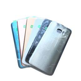 Wholesale 1 Unids Vivienda Chasis Medio Batería Cubierta de la Puerta trasera Para Samsung Galaxy S7 G930 S7 Borde G935F Blanco Oro Negro Azul Con Etiqueta Adhesiva