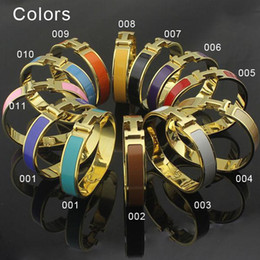Wholesale Christmas H - 316L Titanium steel black punk bangle with gold plated and H words for man and women bangle in size 5.7*4.7cm gold plated PS6202