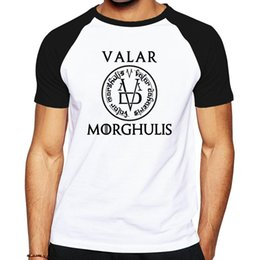 Wholesale Green Flash Games - Wholesale- the Game Of Thrones men brand clothing letter logo designed men clothes cotton t shirt Valar Morghulis All Men Must Die T-shirt