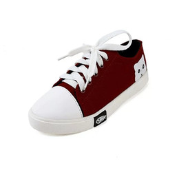 Wholesale Good Ladies Shoes - Canvas shoes women wine red black white shoes and bags match very good look ladies shoes leader