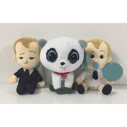 Wholesale cartoons diapers - 20cm New Movie The Boss Baby Stuffed Plush Toys Suit Diaper Boss Baby Plush Soft Cartoon Toy for Kids Children Gifts