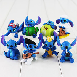 Wholesale Lilo Stitch Pvc Figures - 8pcs set Lilo & Stitch PVC Action Figure Model Toy for Kids Gift high quality free shipping retail