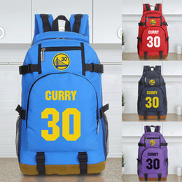 Wholesale landy house The basketball team warriors curry NO Thompson NO computer bag backpack shcool bags sports backpack team Souvenirs