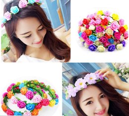 Wholesale Hair Factory Yiwu - 2017 hot wreath children's party hair ornaments glowing wreaths headdress tourism ranching seaside holiday factory direct