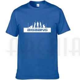 Wholesale G Dragon T Shirt - Bigbang band T shirt G Dragon short sleeve gown Cool leisure tees Music printing clothing Unisex cotton Tshirt