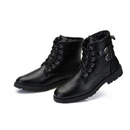 Wholesale Purple Vintage High Heel Shoes - XiaGuoCai Spring autumn Men Boots Vintage Style Men Shoes Casual Fashion High-Cut Lace-up Warm Hombre Motorcycle Men Shoes-2