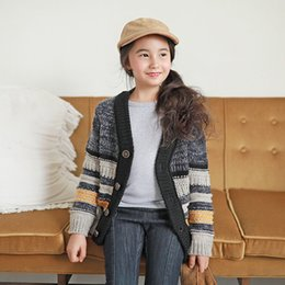 Wholesale Children Winter Wool Wear - New Neutral Clothing, Thick Cardigan, Autumn New Children's Sweater, Wool Cardigan Wear Thickened Children, on sale