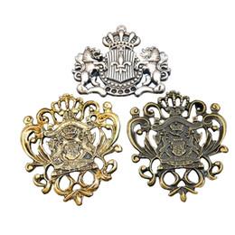 Wholesale Vintage Jewelry Connector - Wholesale- 6pcs Mix Zinc Alloy Bronze Badge Fairy Crown Anchor Vintage Metal Necklace Pendant 50*42mm Connector Charm Jewelry Fine GR-715