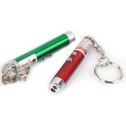 Wholesale Key Chain Laser Pointers - Mini Flashlight 2in1 Key Chain lights White Light + Red Laser Pointer LED Flashlight Led Key Chain Flashlights Torch LED Light