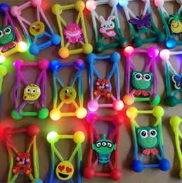 Wholesale Iphone Case Bumper Silicon - Universal LED Lamp 3D Cartoon Bumper Case Luminous Flicker Soft Silicon Frame Cases Cover For Iphone 6s 7 8 plus 5S Samsung s7 s6 edge note8