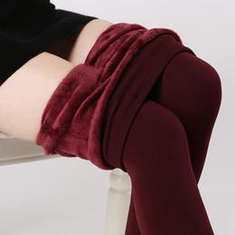 Wholesale Thick Blue Pink Leggings - S-3XL High Elastic Waist Winter Plus Velvet Thicken Women's Leggings Warm Pants Good Quality Cashmere Thick Trousers Female
