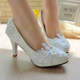 d38ae259a10e Spring New bride waterproof taichung pregnant women with flat bottom shoe  lace white wedding dress and bridesmaid shoes list wedding shoes pregnant  on sale
