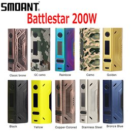 Wholesale Fit Free - Original Smoant Battlestar 200W TC Box Mod Support Ni Ti SS NC TCR Fit Authentic Smoant Mobula RTA 100% genuine DHL Free 2246003
