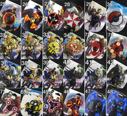 Wholesale 73types New arrival Fidget spinner The Avengers Cartoon spider iron man Hand Spinners toys spinning top EDC Marvel Comics in Retail box