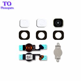Wholesale Home Button Gasket - 50Pcs New Black For Iphone 5 5G 5C Home Button Replacement Key Cap + Flex Cable + Rubber Gasket + Metal Piece