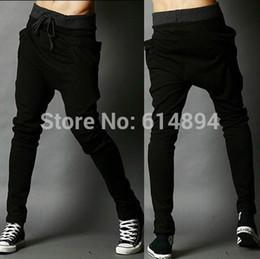 Wholesale Harem Pants Men Outfits - Wholesale- Men's Clothing joggers 2016 New Arrival Autumn Outfit Elastic Waist Pants Men's Casual Harem Pants joggers Sweatpants pantalones