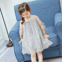 Wholesale Novelty White Chiffon Dress - 2017 Summer Girls Lace Dress Is Han Edition One Child In Children's Wear Children's Princess Dress Sells
