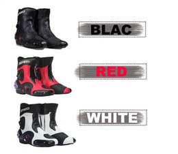 Wholesale Pro Biker Motorcycle Boots - New Ankle joint protection motorcycle boots Pro-Biker SPEED boots for motorcyle Racing Motocross Boots BLACK RED WHITE