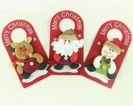 Wholesale Cartoon Christmas Ornament - New Arrive Hoomall Christmas Door Decoration Doorplate Santa Claus Snowman Christmas Drop Ornaments adornos navidad