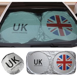 Wholesale Mini Car Flags - Car Logo Windshield Sunshade Visor Cover UK Flag Front Window Sun Shade UV Protect for MINI Countryman Clubman R55 R56 R60 F55 F56