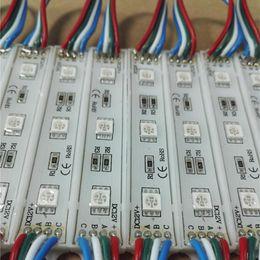 2019 éclairage de la lettre de canal 12V 5050SMD RVB module de lumière LED modules 3led couleur changeable lumière de décoration rétroéclairage conduit lettre de publicité éclairage de la lettre de canal pas cher
