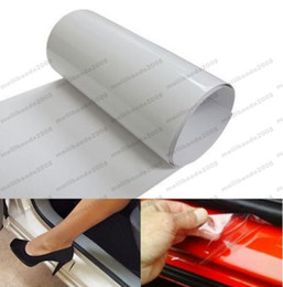 Wholesale Paint Protection Stickers - NEW 20 * 200cm Clear Car Door Sill Edge Paint Protection Vinyl Film Sheet Anti Scratch free shipping MYY