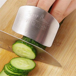 Wholesale Safe Slice - Free shipping Kitchen Cooking Tools Stainless Steel Finger Hand Protector Guard Personalized Design Chop Safe Slice Knife