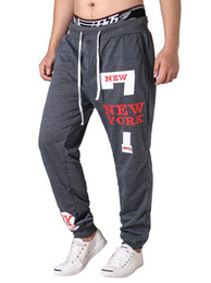 Wholesale Trousers Winter Size Xl - man casual sport pants Europe size leisure trousers autumn winter new arrival letters print 3colors 4sizes