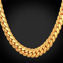 2019 желтое золото 18 k ожерелье 18k настоящее позолоченное ожерелье с 18k штамп мужчины ювелирные изделия 18 дюймов-32 дюймов змея цепи Ожерелье для мужчин желтое золото покрытием цепи дешево желтое золото 18 k ожерелье
