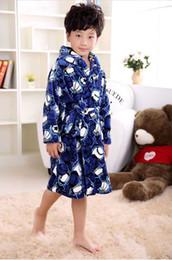 Wholesale Boy Wear Nightgown - Lovely Flannel Children's Bathrobes Kids Cotton Winter Spring Home Wear One Piece Pajamas Boy Girls peignoir enfant Gown Robes Hot
