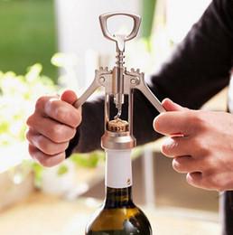 Wholesale Pump Wine Opener - Stainless Steel Bottle Opener Waiter Metal Red Wine Opener Corkscrew Bottle Handle Bottle Pumps Corkscrews Cork Out Tool C165