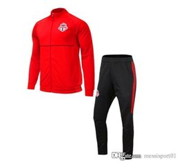Wholesale Fleece Jogging Pants - AAA+ 17 1-8 MLS Soccer Jacket Suit Toronto La Galaxy New York City Orlando Track Suit Jogging Football Tops Coat Pants Adults Tracksuit